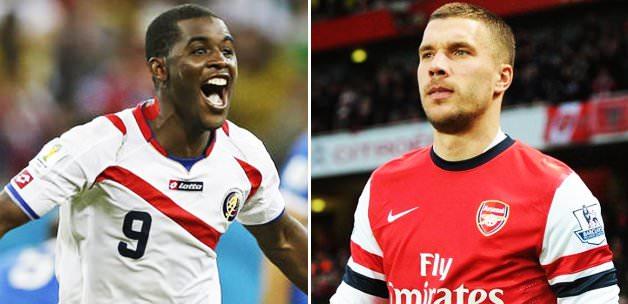 Galatasaray Podolski ve Campbell için İngiltere'de