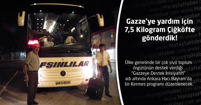 Gazze'ye yardım için 7,5 Kilogram Çiğköfte gönderdik!