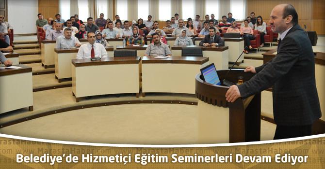 Kahramanmaraş Büyükşehir Belediyesi'nde Hizmetiçi Eğitim Seminerleri Devam Ediyor
