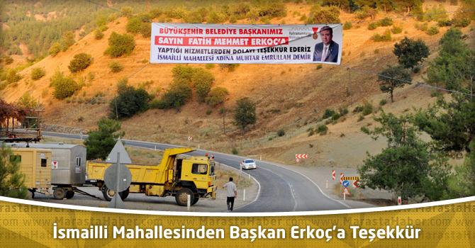 İsmailli Mahallesinden Başkan Erkoç'a Teşekkür
