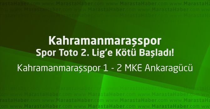 Kahramanmaraşspor 1 – MKE Ankaragücü 2 Maçın özeti ve golleri