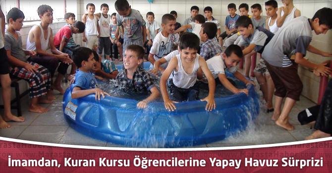İmamdan, Kuran Kursu Öğrencilerine Yapay Havuz Sürprizi
