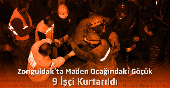 Zonguldak'ta Maden Ocağındaki Göçük: 9 İşçi Kurtarıldı