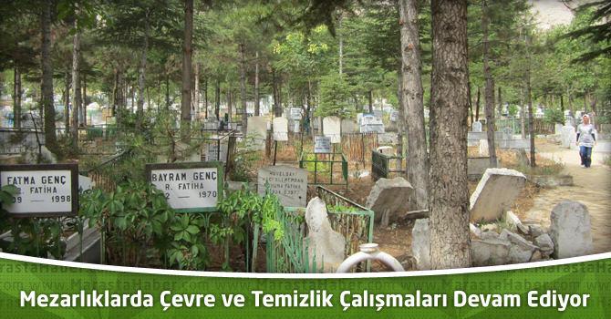 Mezarlıklarda Ağaç Budama Ve Temizlik Çalışmaları Devam Ediyor