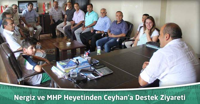 Nergiz ve MHP Heyetinden Ceyhan'a Destek Ziyareti