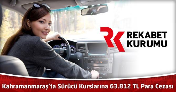 Kahramanmaraş'ta Sürücü Kurslarına 63 bin 812 TL Para Cezası