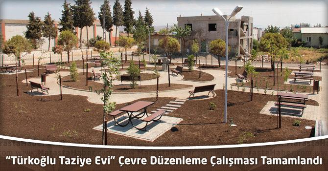 """""""Türkoğlu Taziye Evi"""" Çevre Düzenleme Çalışması Tamamlandı"""