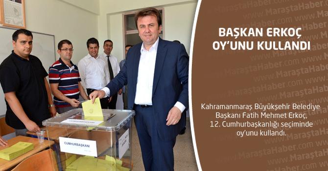 Başkan Erkoç Oy'unu Kullandı