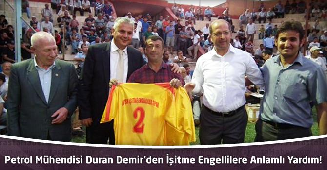 Petrol Mühendisi Duran Demir'den İşitme Engellilere Anlamlı Yardım!