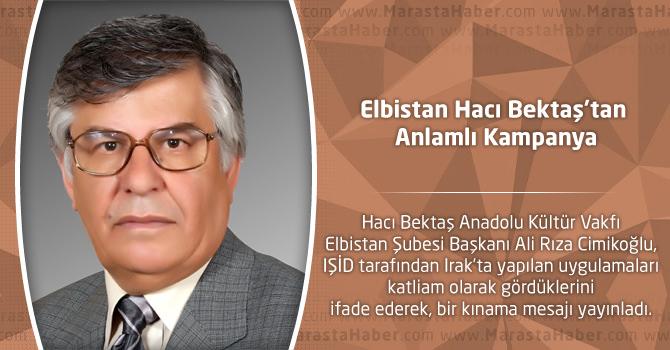 Elbistan Hacı Bektaş'tan Anlamlı Kampanya