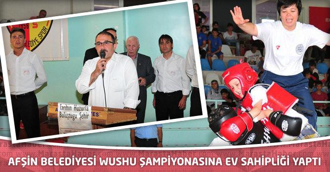 Afşin Belediyesi Wushu Şampiyonasına Ev Sahipliği Yaptı