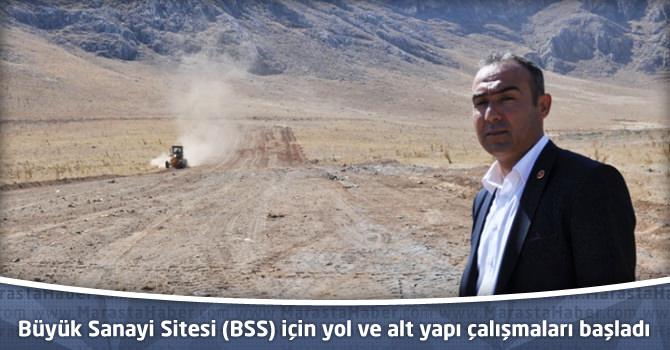 Büyük Sanayi Sitesi (BSS) için yol ve alt yapı çalışması için davet
