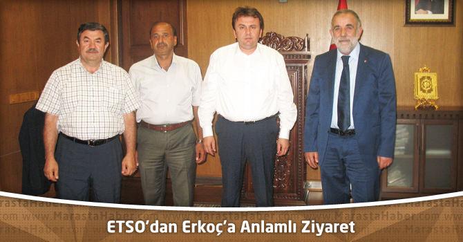 ETSO'dan Erkoç'a Anlamlı Ziyaret