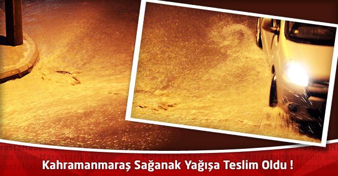 Kahramanmaraş'ta Hava Durumu : Sağanak Yağışa Teslim Oldu !