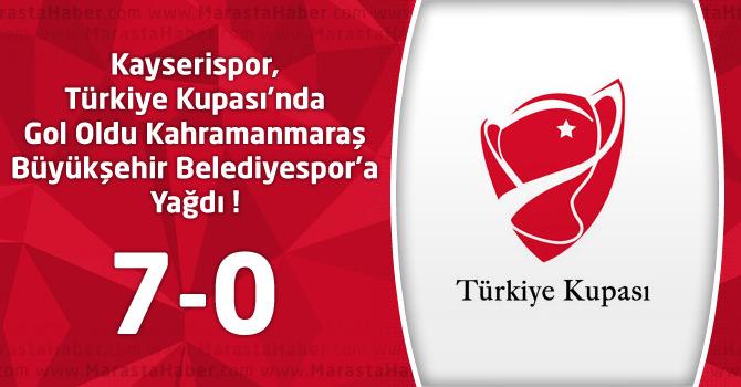 Kayserispor 7 – Kahramanmaraş Büyükşehir Belediyespor 0 maç özeti ve goller
