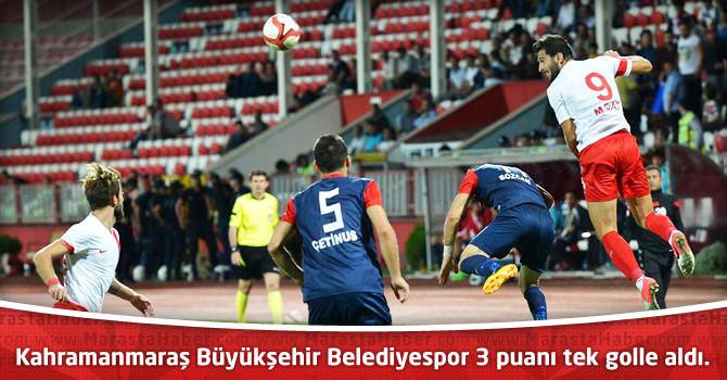 Kahramanmaraş Büyükşehir Belediyespor 3 puanı tek golle aldı.
