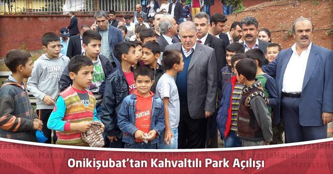 Onikişubat'tan Kahvaltılı Park Açılışı
