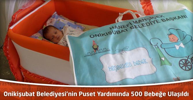 Onikişubat Belediyesi'nin Puset Yardımında 500 Bebeğe Ulaşıldı