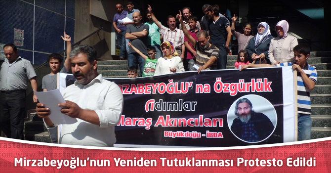 Mirzabeyoğlu Hakkındaki Yeniden Tutuklama Kararı Kahramanmaraş'ta Protesto Edildi