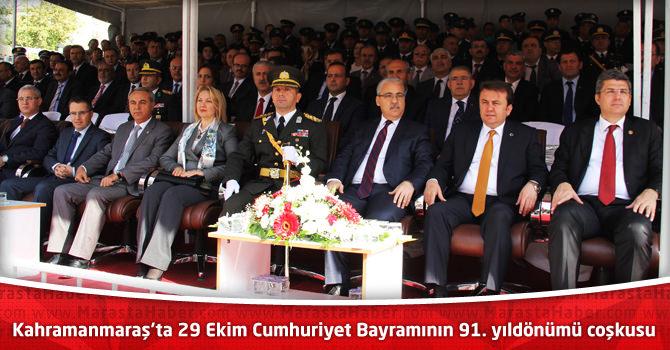 Kahramanmaraş'ta 29 Ekim Cumhuriyet Bayramının 91. yıldönümü coşkusu