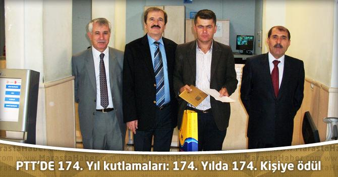 PTT'DE 174. Yıl kutlamaları: 174. Yılda 174. Kişiye ödül