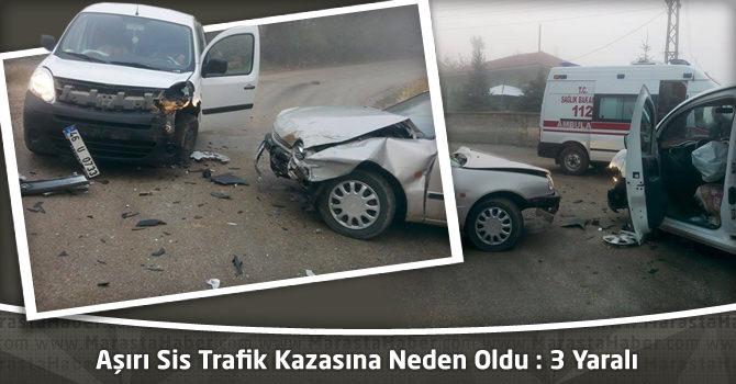 Kahramanmaraş'ta Aşırı Sis Trafik Kazasına Neden Oldu : 3 Yaralı