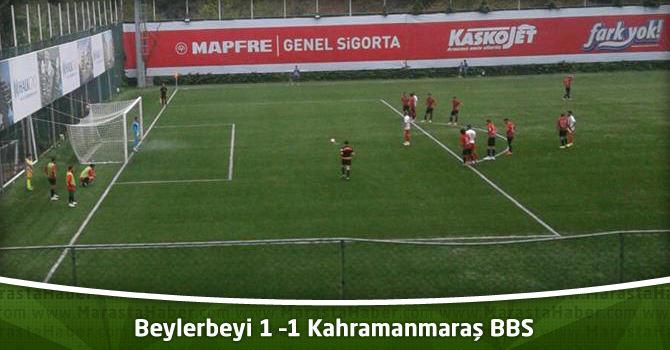 Beylerbeyi 1 –1 Kahramanmaraş BBS Maç özeti ve maçın golleri