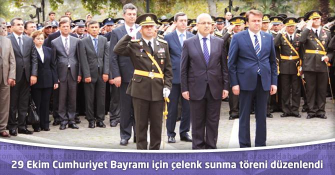 29 Ekim Cumhuriyet Bayramı için Çelenk Sunma töreni düzenlendi