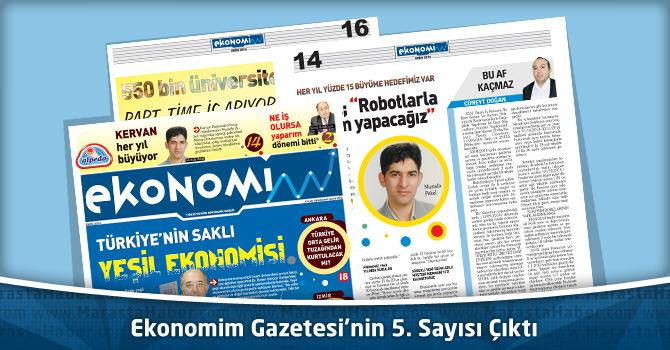 Ekonomim Gazetesi'nin 5. Sayısı Çıktı