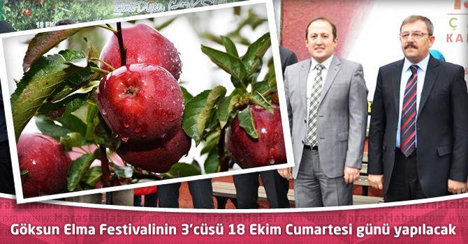 Göksun Elma Festivalinin 3'cüsü 18 Ekim Cumartesi günü yapılacak