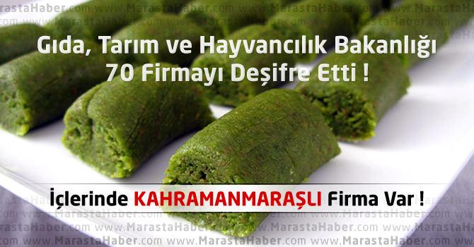 Gıda, Tarım ve Hayvancılık Bakanlığı 70 Firmayı Deşifre Etti