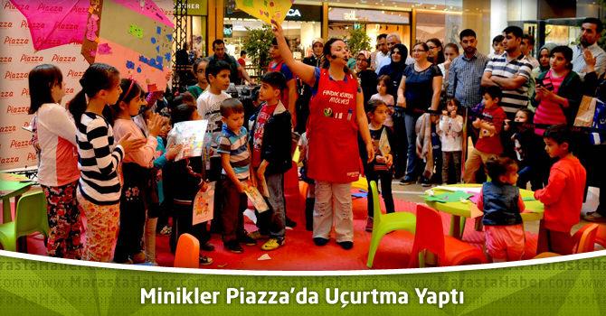 Minikler Kahramanmaraş Piazza'da Uçurtma Yaptı
