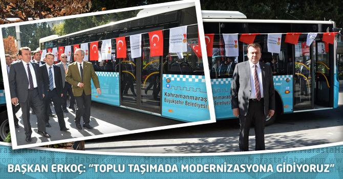 """Başkan Erkoç: """"Toplu taşımada modernizasyona gidiyoruz"""""""