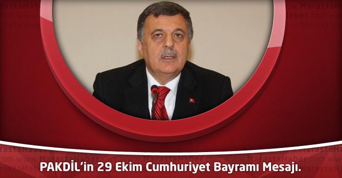 PAKDİL'in 29 Ekim Cumhuriyet Bayramı Mesajı