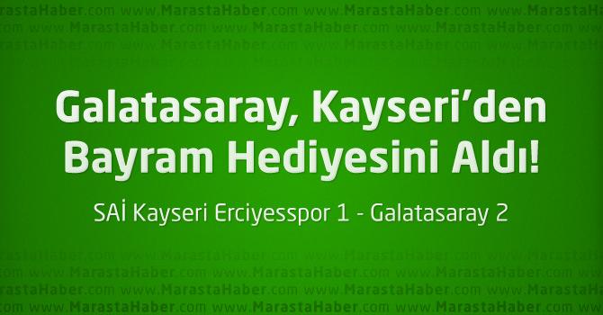 SUİ Kayseri Erciyesspor 1 – Galatasaray 2 geniş maç özeti ve maçın golleri