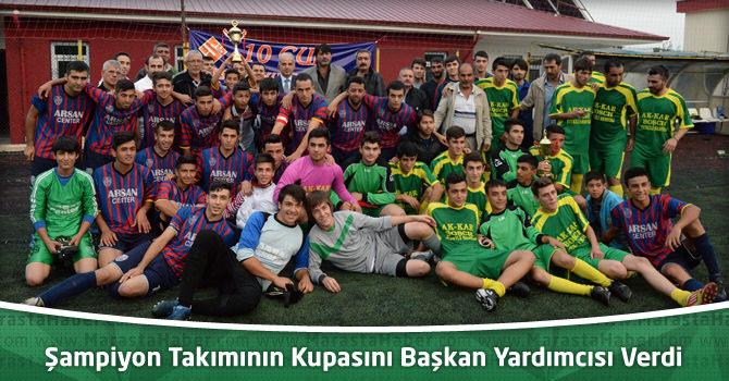 Şampiyon Takımının Kupasını Başkan Yardımcısı Fatih Yoğurt Verdi