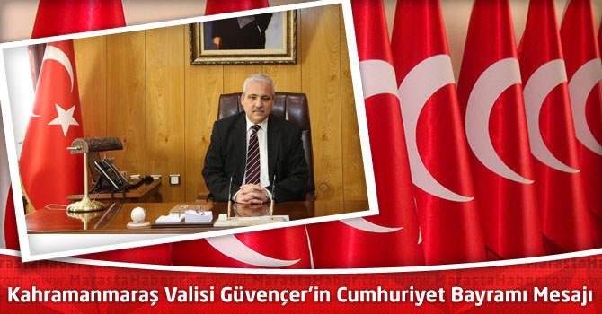 Vali Mustafa Hakan Güvençer'in 29 Ekim Cumhuriyet Bayramı Kutlama Mesajı