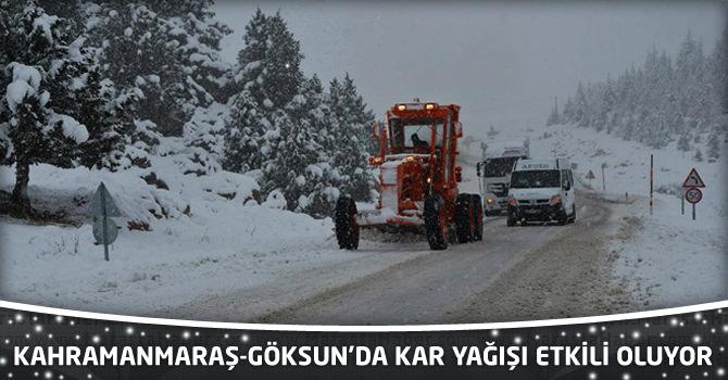 Kahramanmaraş-Göksun'da Kar Yağışı Etkili Oluyor