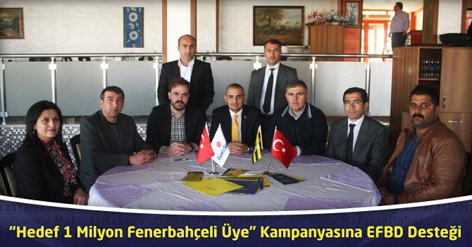 """""""Hedef 1 Milyon Fenerbahçeli Üye"""" Kampanyasına EFBD Desteği"""