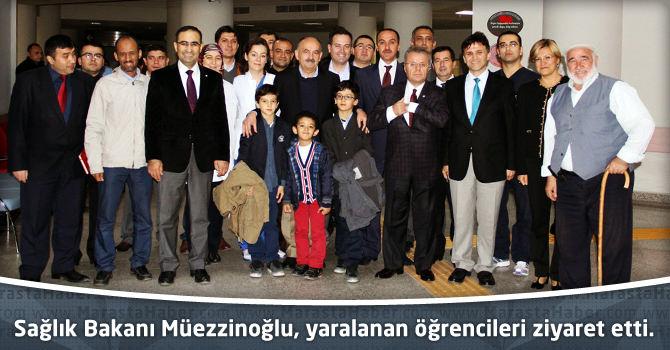 Sağlık Bakanı Müezzinoğlu, yaralanan öğrencileri ziyaret etti.