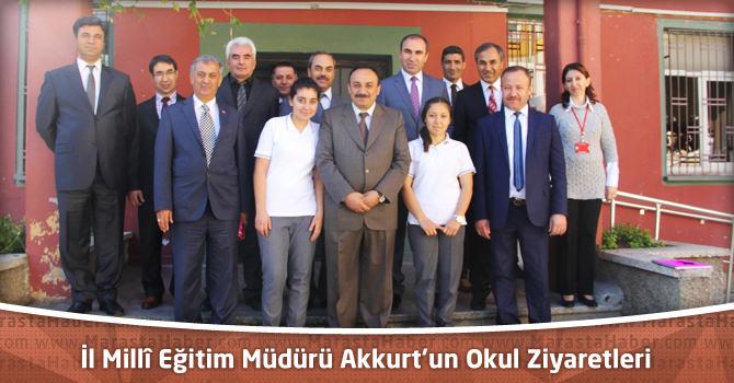 İl Millî Eğitim Müdürü Mehmet Emin Akkurt'un Okul Ziyaretleri