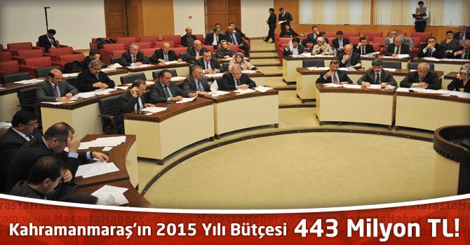 Kahramanmaraş'ın 2015 Yılı Belediye Bütçesi 443 Milyon TL