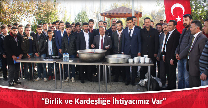 """Elbistan Ülkü Ocakları Başkanı Kılınç: """"Birlik ve Kardeşliğe İhtiyacımız Var"""""""