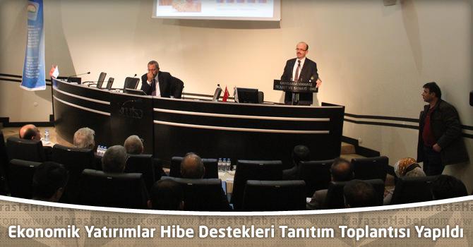 Ekonomik Yatırımlar Hibe Destekleri Tanıtım Toplantısı Kahramanmaraş'ta Yapıldı