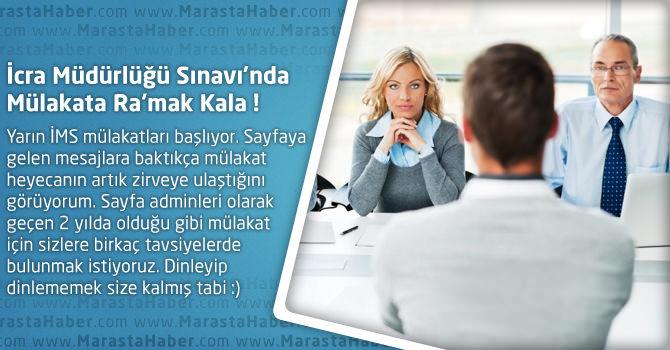 İcra Müdürlüğü Sınavı'nda Mülakata Ra'mak Kala