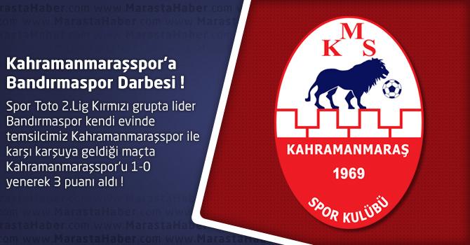 Bandırmaspor 1 – Kahramanmaraşspor 0 Maçın özeti