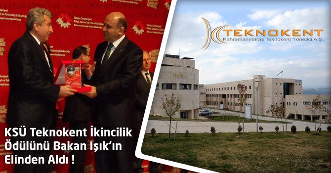KSÜ Teknokent İkincilik Ödülünü Bakan Işık'ın Elinden Aldı