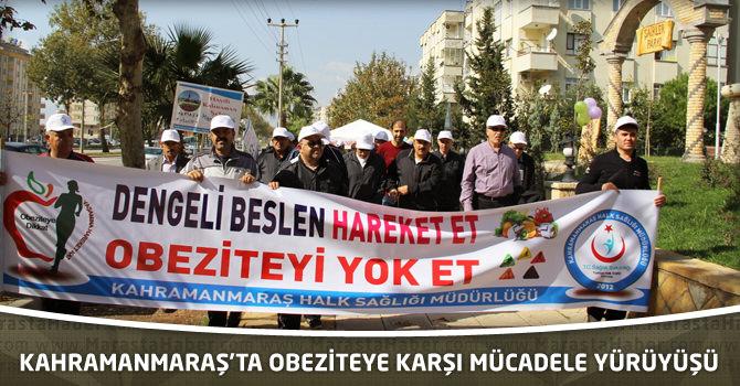 Kahramanmaraş'ta Obeziteye Karşı Mücadele Yürüyüşü