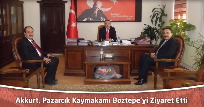 Milli Eğitim Müdürü Akkurt, Pazarcık Kaymakamı Boztepe'yi Ziyaret Etti