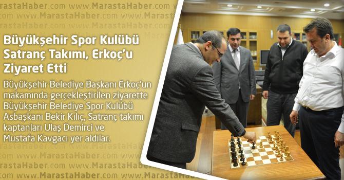 Büyükşehir Spor Kulübü Satranç Takımı, Erkoç'u Ziyaret Etti